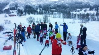Førebuing til karusellrenn 18.januar 2015. Foto: Linn Grepstad Nes.
